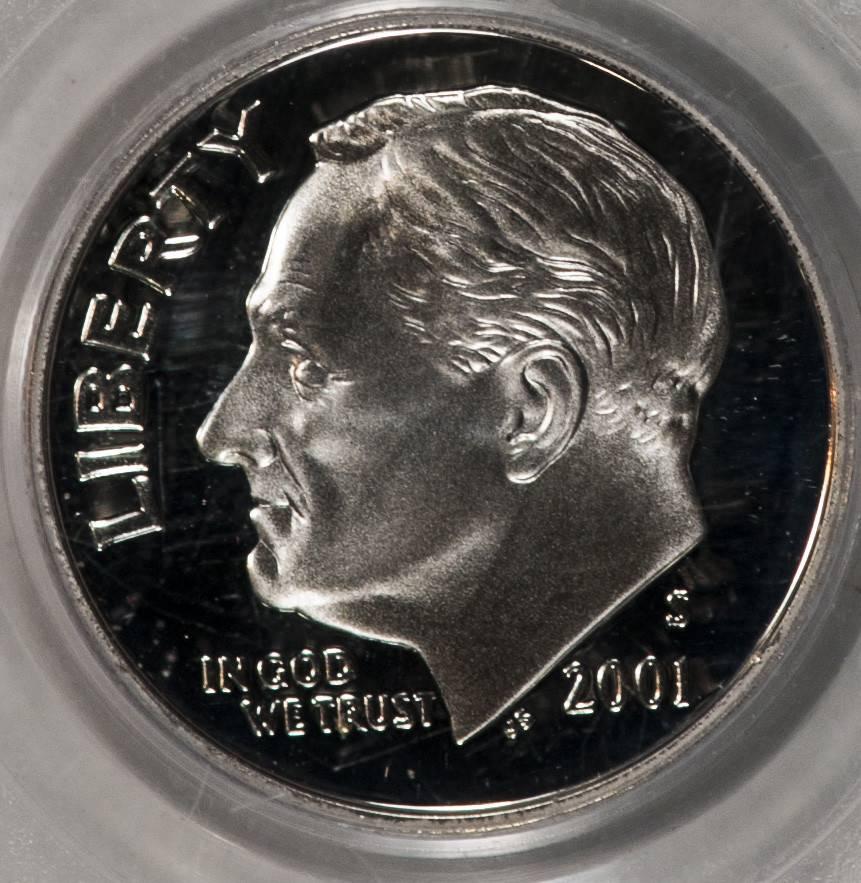 2001 S PCGS PR69 DCAM SIlver Roosevelt Dime