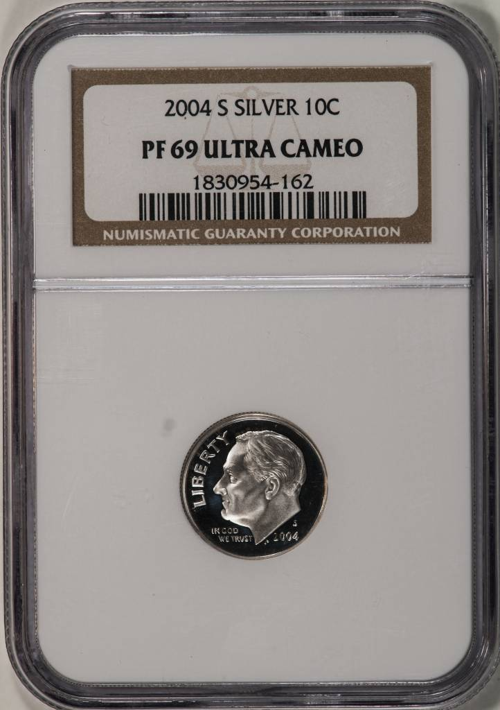 2004 S NGC PF69 Ultra Cameo Roosevelt Dime