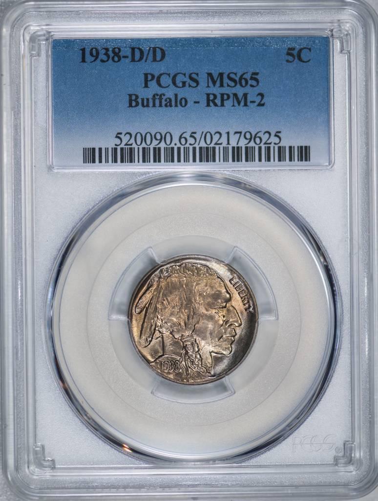 1938 D/D PCGS MS65 Buffalo Nickel RPM2