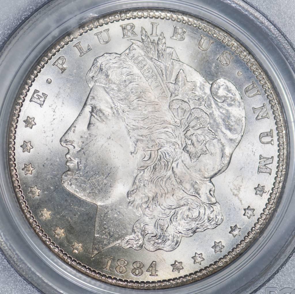 1884 CC PCGS MS65 CAC Morgan Silver Dollar