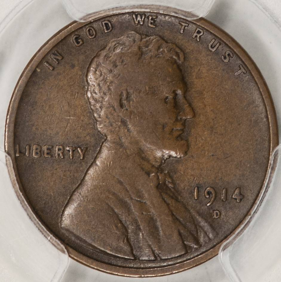 1914 D PCGS VF25 Lincoln Cent