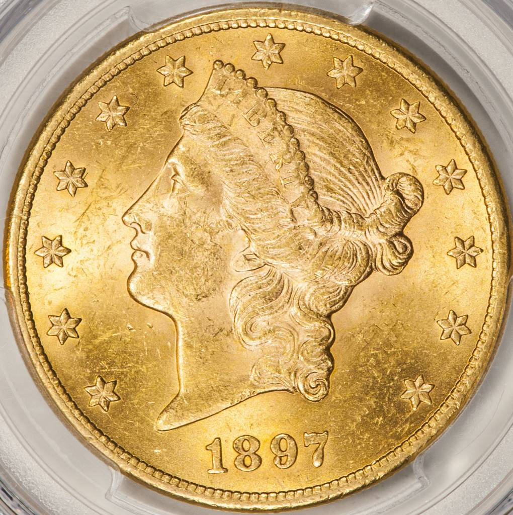 1897 PCGS MS62 $20 Liberty Double Eagle