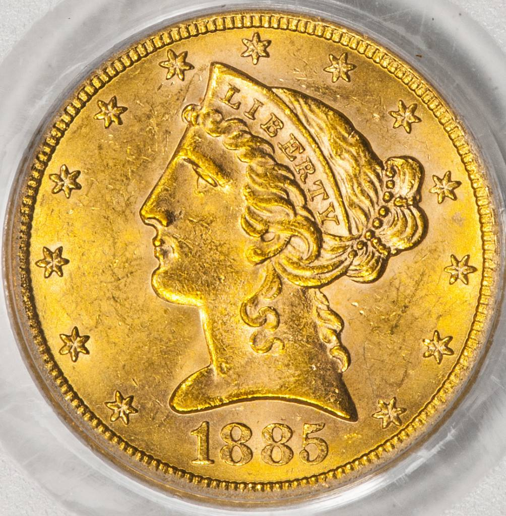 1885 S PCGS MS62 $5 Liberty Half Eagle