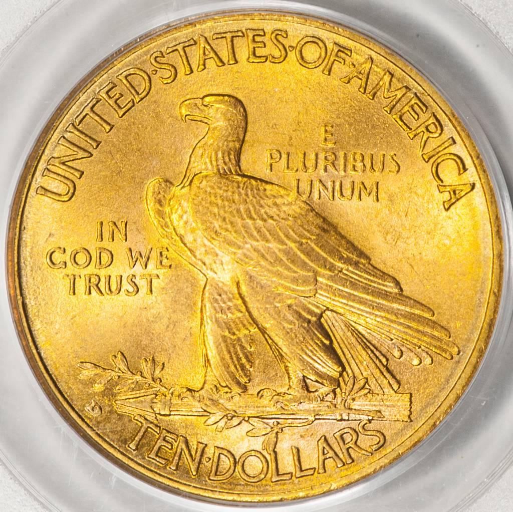1910 D PCGS MS62 $10 Indian Eagle