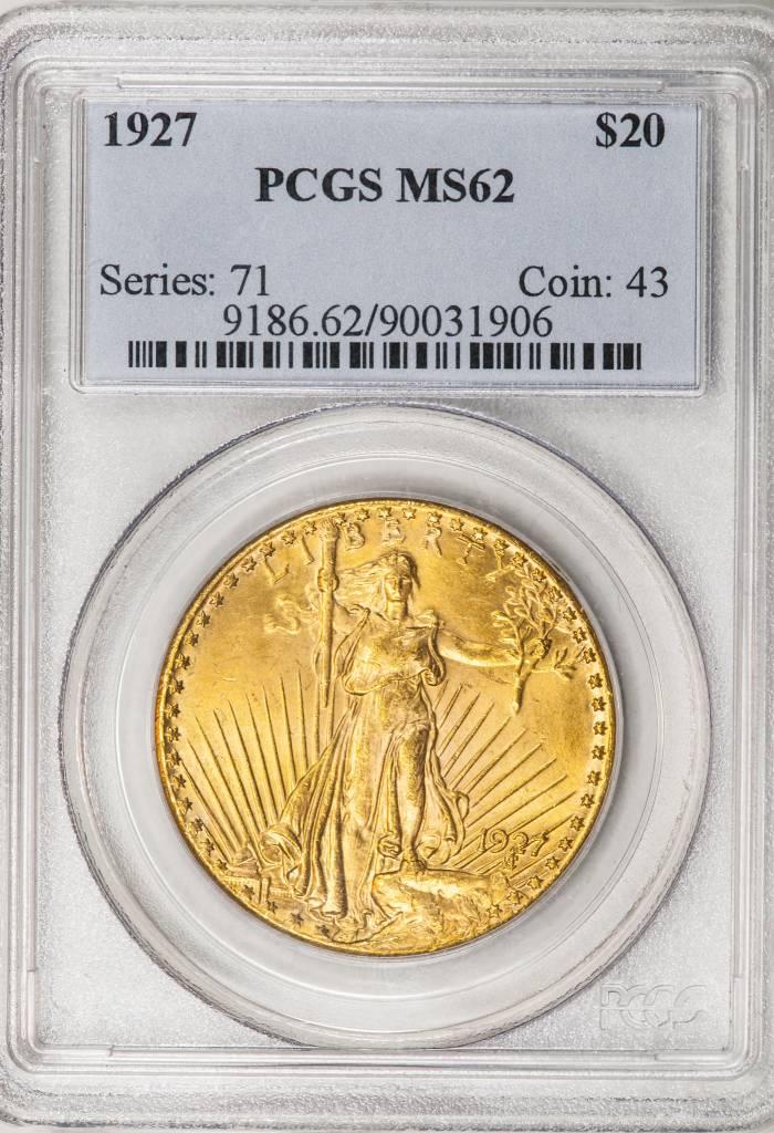 1927 PCGS MS62 Saint Gaudens Double Eagle