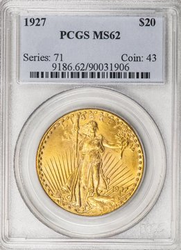 1927 PCGS MS62 Saint Gaudens Double Eagle