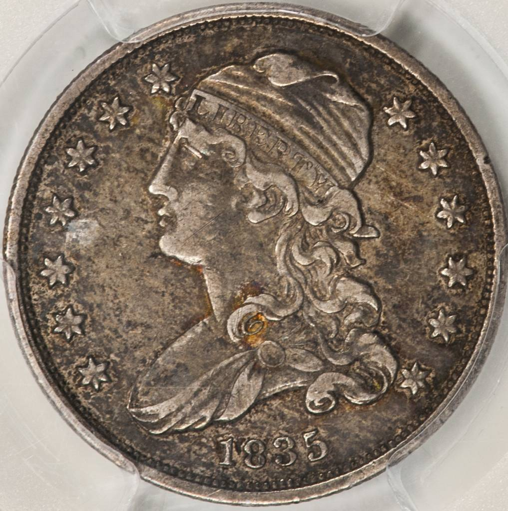 1835 PCGS XF45 Capped Bust Quarter Dollar