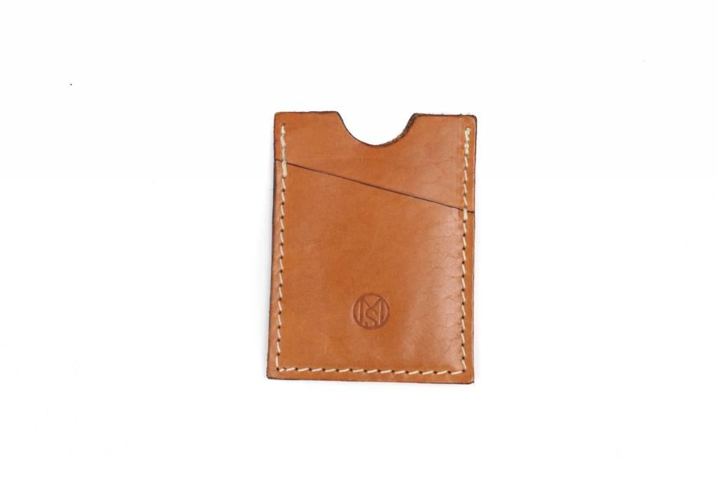 Credit Card Sleeve-Saddle Tan