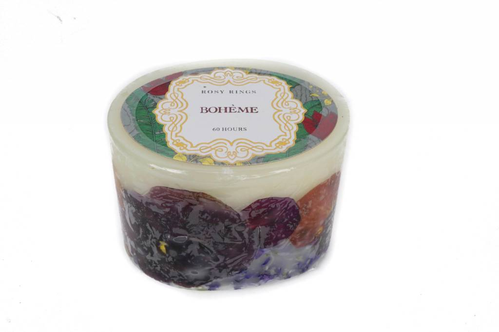 "Rosy Rings Boheme 3"" candle"