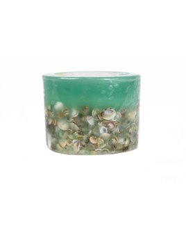"Rosy Rings Sea Glass 3"" Candle"