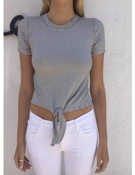 Delacy Stripe Tie Front