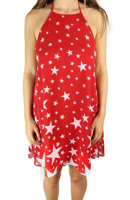 Show me your mumu Katy Star Halter Dress