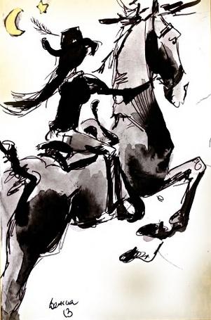 Bettina Small Framed Horse