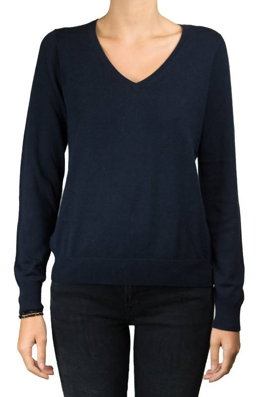 Repeat Navy V Neck