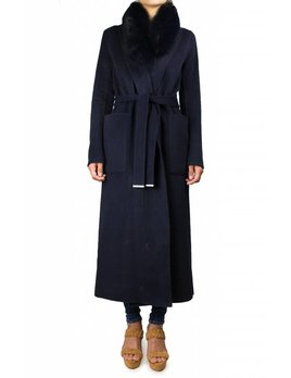 Soia & Kyo Wool Coat w/ Fur