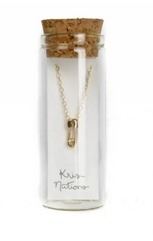 Kris Nation Safety pin necklace