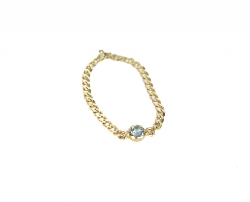 Loren Stewart 7 Blue Topaz Ring