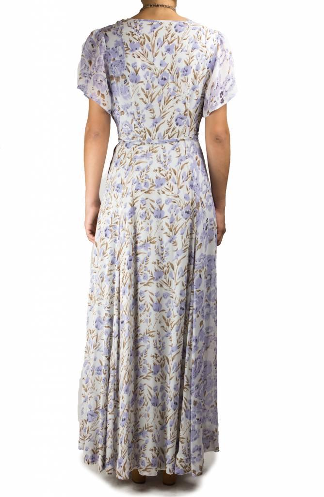 Chan Luu Patchwork Floral Dress