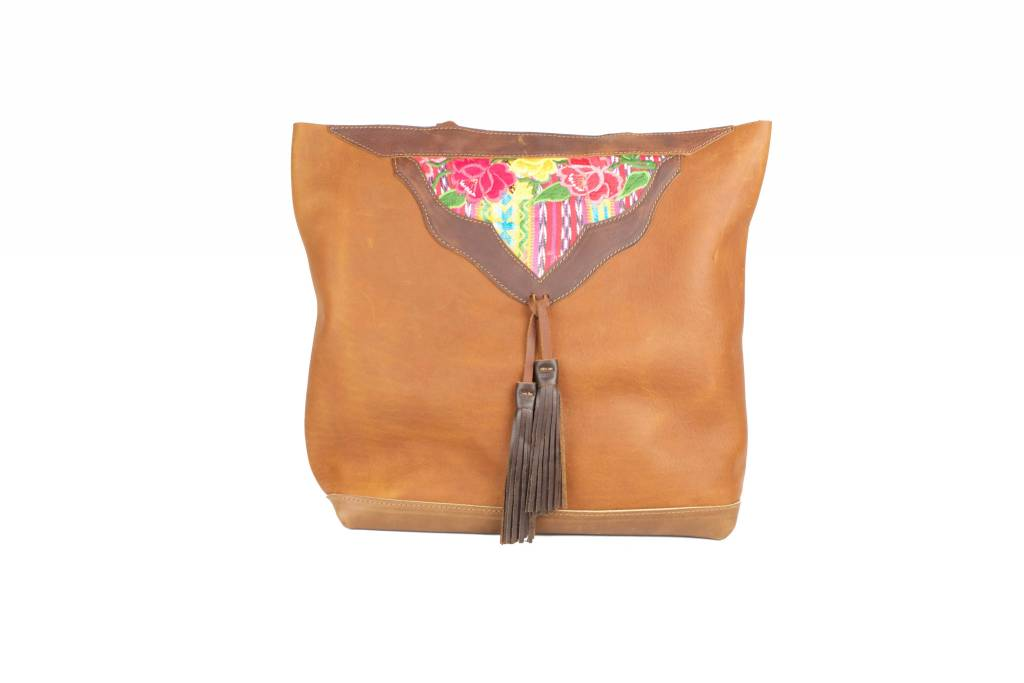 Crossbow Leather Brown Embro Tote