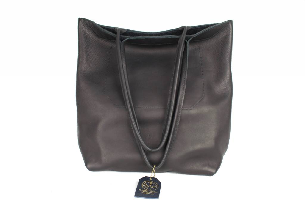 Crossbow Leather Black Embro Tote