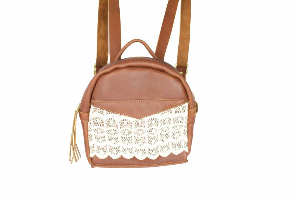 Crossbow Leather Brown Lace Backpack