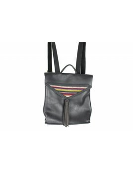 Crossbow Leather Black Mex Backpack