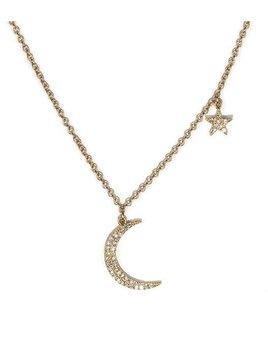 Zofia Day Moon & Star Necklace