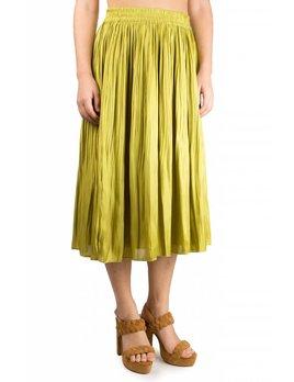 Scotch and Soda Chartuese Pleated Skirt