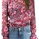For love and Lemons Berry Flora Button Back