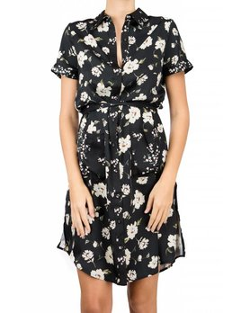 Lacademie Romantic Floral Shirt Dress