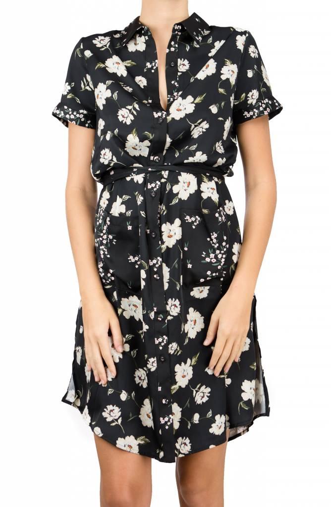 Lacademie Romantic Floral Shirt Dress