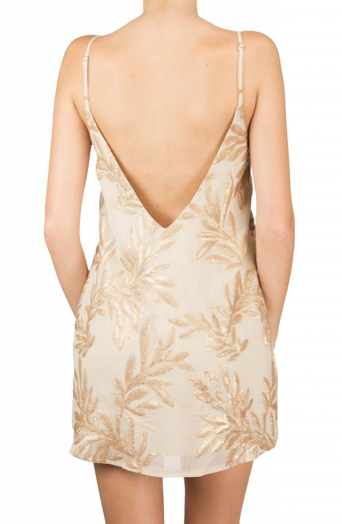 Show me your mumu Vivienned Slip Dress Golden