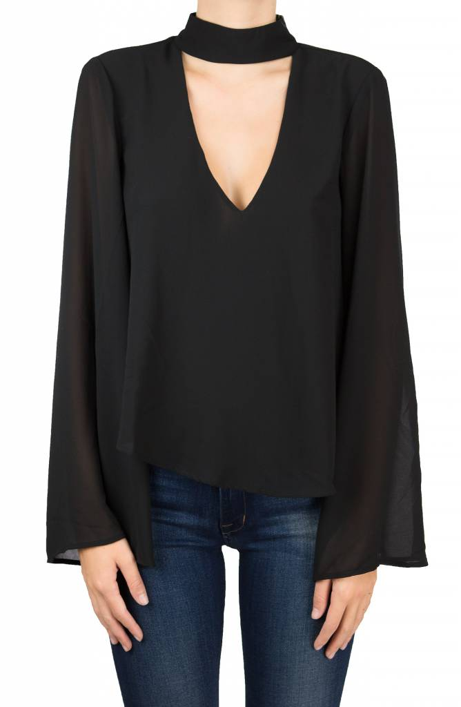 Show me your mumu Olsen Top Black Chiffon