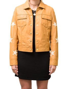 Scotch and Soda Tan Leather Star