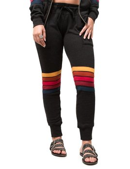 Aviator Nation Moto Stripe Blk