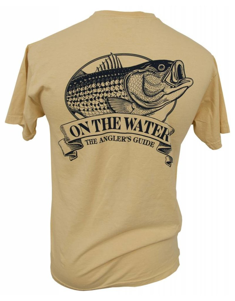 Adult Short Sleeve Old School Striper Angler's Guide