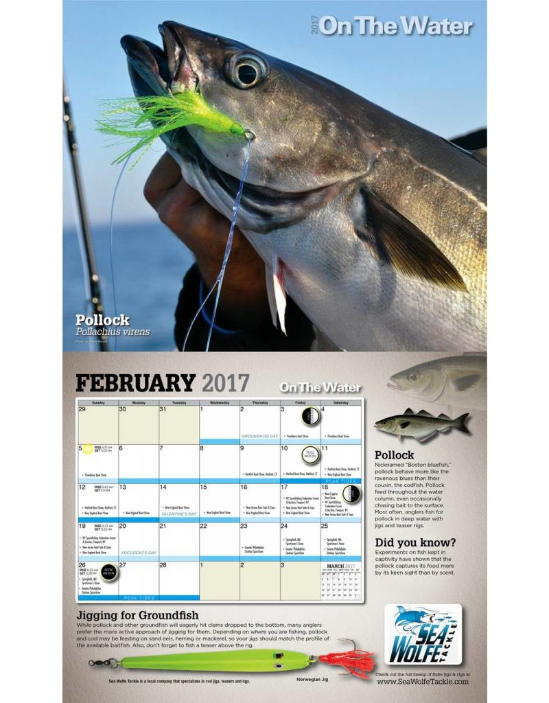 2017 On The Water Fishing Calendar