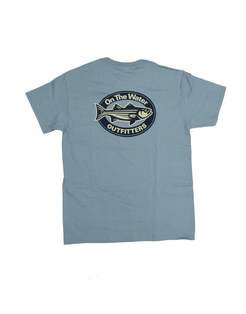 Distressed Striper Oval T-Shirt