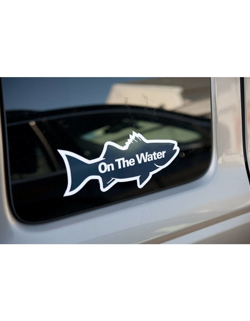NEW - On The Water Striper Silhouette Decal