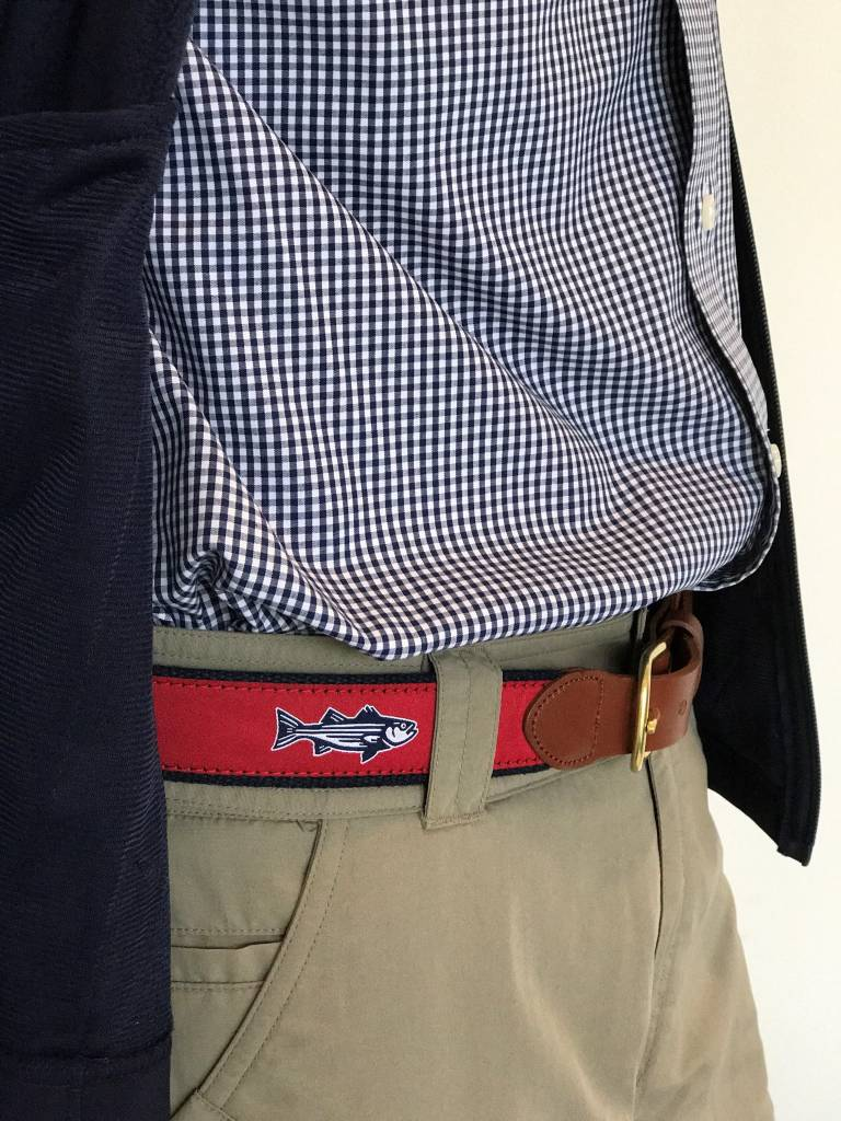 Striper Red Ribbon Belt