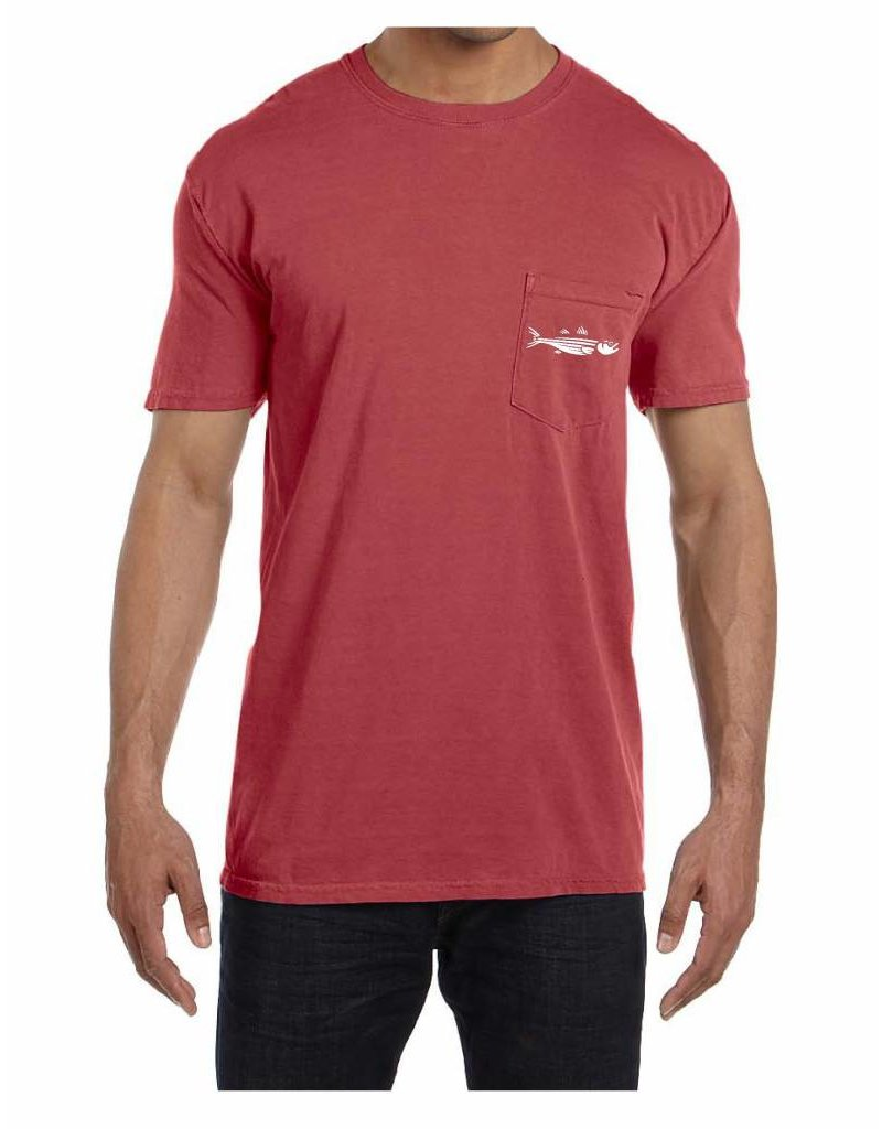 Reverse Striper Pocket T-Shirt