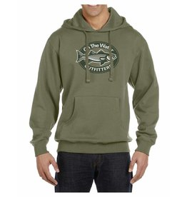 Distressed Striper Oval Hoodie