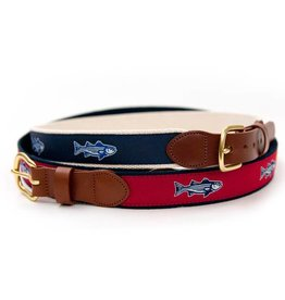 Striper Navy Ribbon Belt