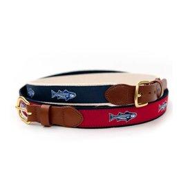 Striper Navy Ribbon Belt