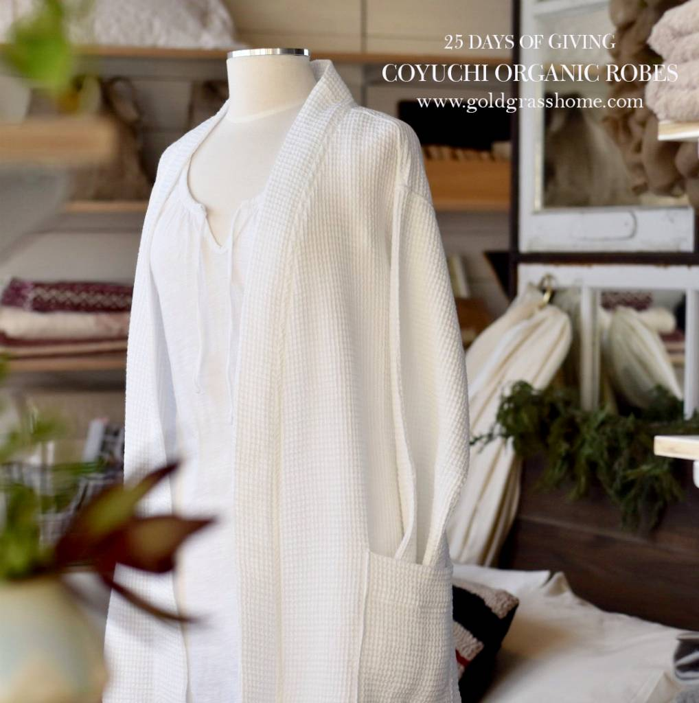 25 Days of Giving – Day 20: Coyuchi Organic Cotton Robes