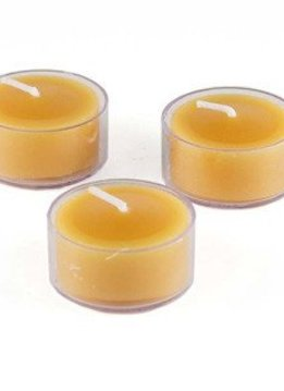 Honey Candles 100% Beeswax Tealight Clear Cup - Single