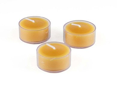Honey Candles Honey Candles - 100% Beeswax Tealight Clear Cup - Single
