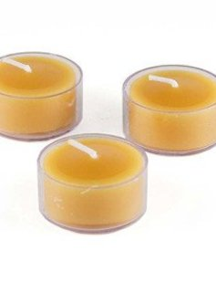 Honey Candles 100% Beeswax Tealight Clear Cup - Pack of 6