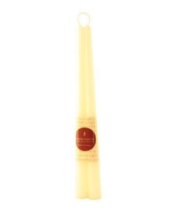"Honey Candles Honey Candles - 100% Beeswax 12"" Taper Pairs"