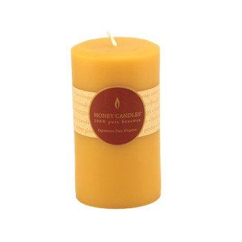 Honey Candles Honey Candles - 100% Beeswax Round Pillar